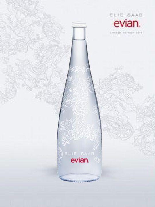 La bouteille Evian par Elie Saab