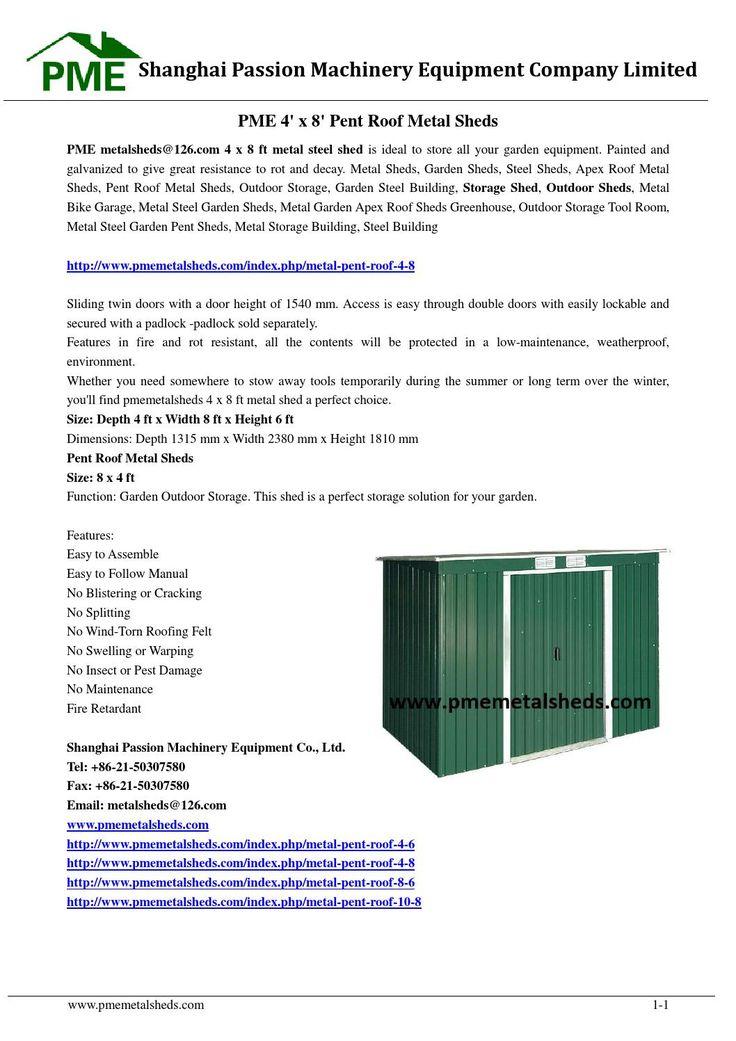 M s de 25 ideas incre bles sobre metal shed roof en for Cobertizos prefabricados metalicos