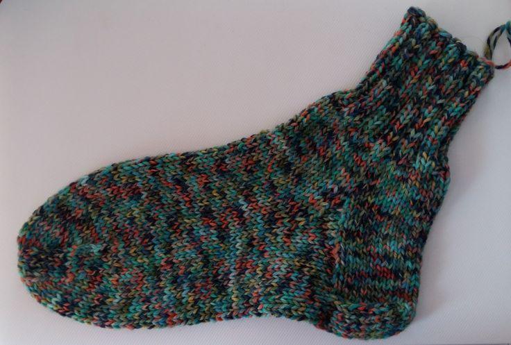 Kézzel kötött vastag férfi zokni