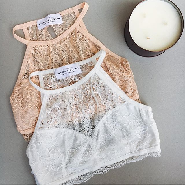 Can't choose one color... I'll take both #lace #bralette