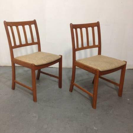 (Pair) Mid Century Danish Teak Chairs - $200