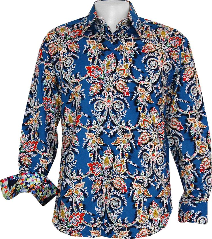 REAL MEN WEAR FLOWERS --> Gama by Robert Graham: http://www.islandtrends.com/robert-graham-gama-sport-shirt-18203 #robertgraham #islandtrends