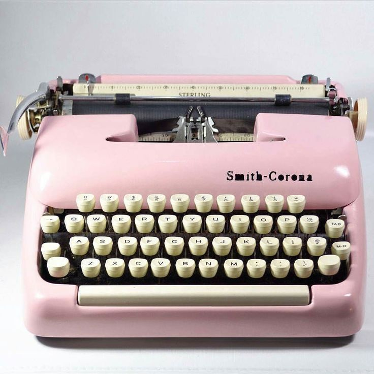 @trunksandtravels specialize in bright pink typewriters that look like they just rolled off the factory line through a process similar to the old painting methods - no spray paint! They offer years of experience restoring typewriters of all kinds and each typewriter comes with a new ribbon pre-installed. Use coupon code Holiday16 for 10% off your purchase!  Shop: @trunksandtravels  Coupon: Holiday16