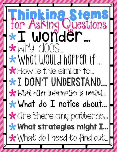 critical thinking question starters An introduction to tony ryan's thinkers  the thinker's keys are a range of question starters developed by tony  critical and creative thinking abilities of.