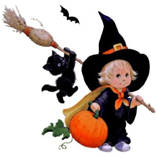 cute halloween clip art cute halloween cartoon baby witches - Cute Halloween Witches