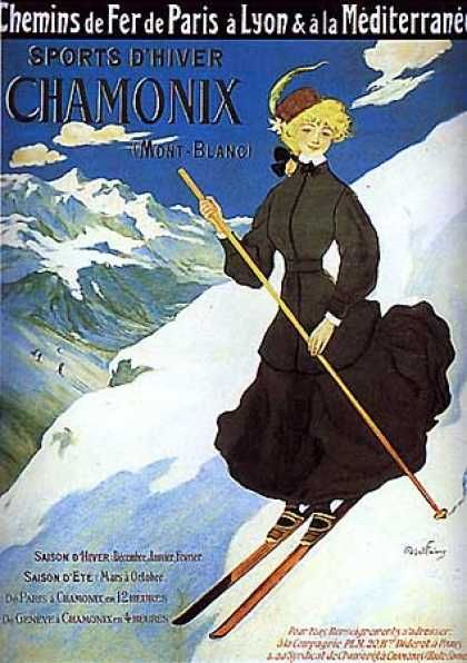 Chamonix by Abel Faivare ~ (1905)~ Skiing in the alps!!