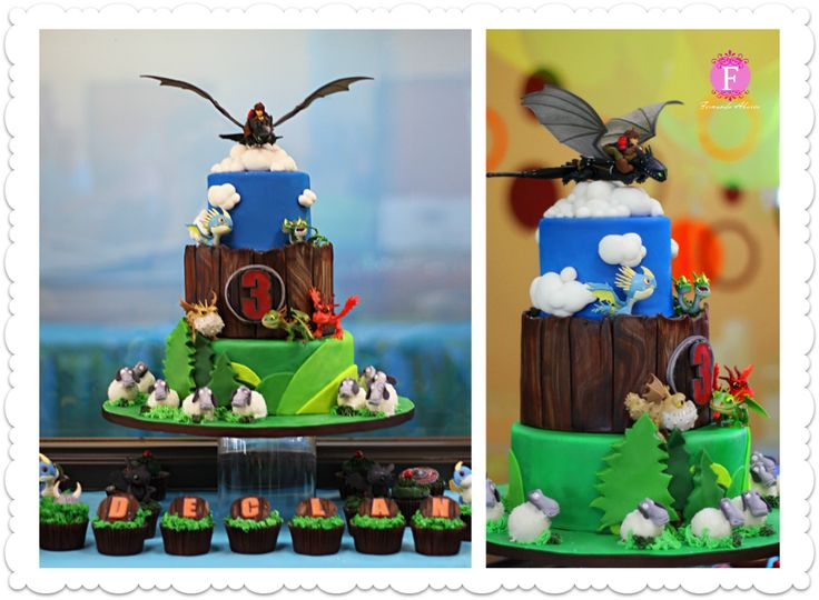 How To Train Your Dragon Edible Cake Decorations