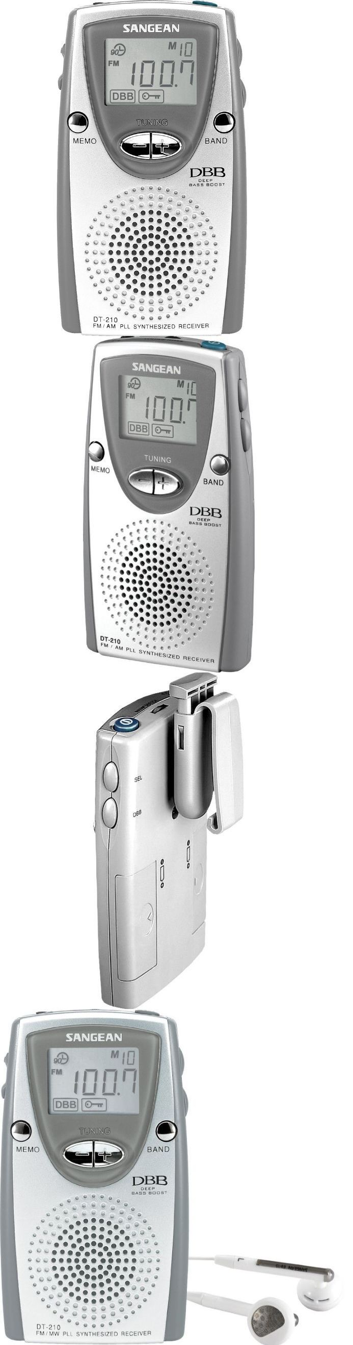 Portable AM FM Radios: Best Portable Radio Sangean Pocket Small Am Fm Stereo Speaker Audio Mini Digital BUY IT NOW ONLY: $57.99