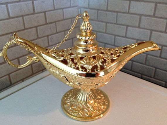 Vintage Gold Color Alaaddin Magic Lamp  Authentic by AUTHENTICGIFT