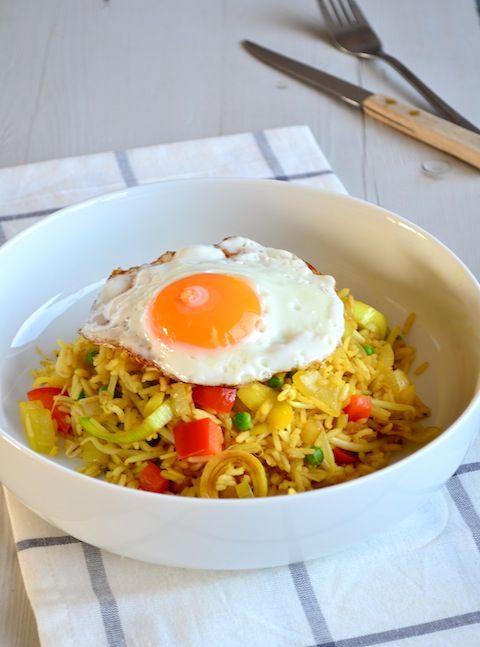 Makkelijke Maaltijd: Nasi Goreng met ei - Indonesian food