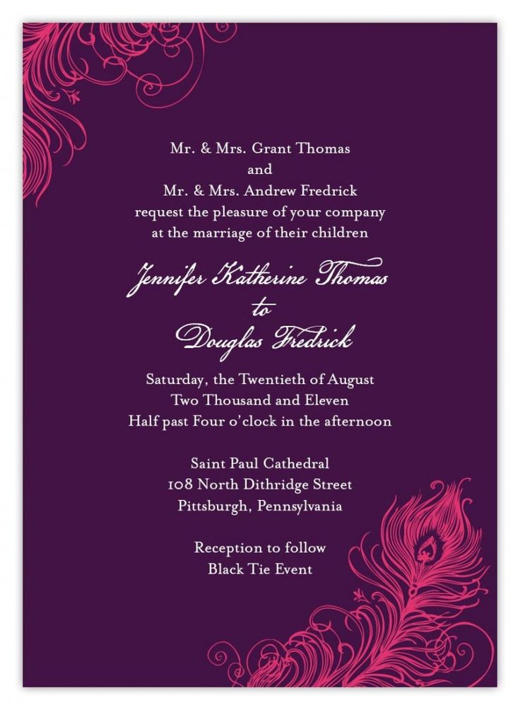 wedding card formats Template – Christian Wedding Invitation Wording Verses