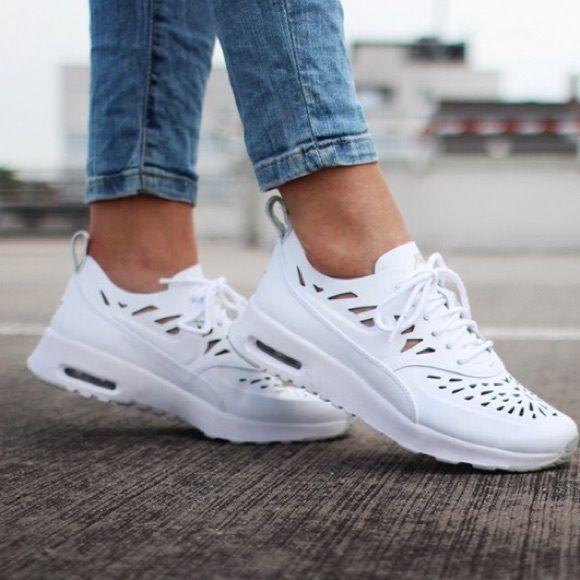 Nike Air Max Thea Joli White Leather Sneakers Nike Air
