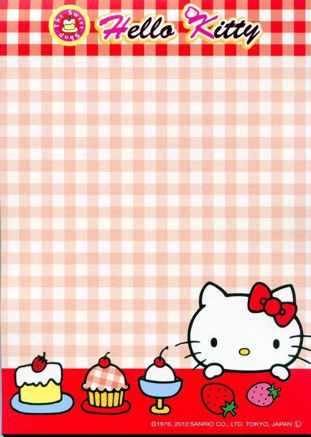 Image 7 of Sanrio Hello Kitty Sweet Dessert 8 Design Memo Pad #1 (M1102)