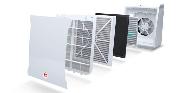 Lux Aeroguard 4S Air Purifier. With its 5 filtration stages, the air purifier constantly guarantees you fresh and healthy air.