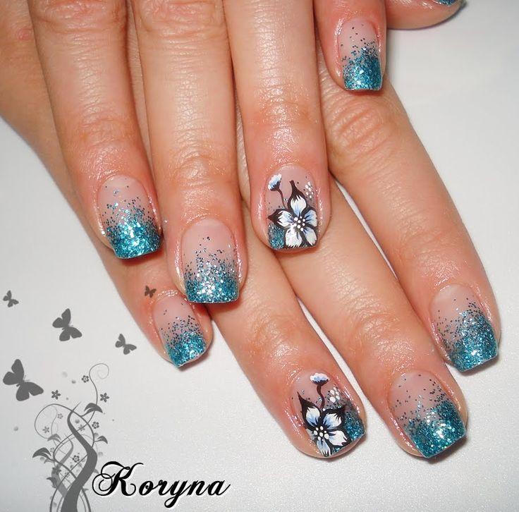 Gliter UV gel nails
