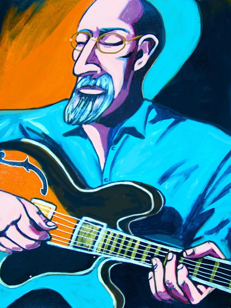 """JOHN SCOFIELD PRINT POSTER man cave guitar cd lp record album vinyl Ibanez archtop moment's peace loud quartet. CHOOSE PRINT SIZES 9x12"""" ($70) or 18x24"""" ($130)-This quality giclee print is part of my extensive portfolio. I am the artist John Froehlich, aka FRO-ART-This is a """"READY TO FRAME"""" REPRODUCTION PRINT on quality gloss archival paper.-PRINT will be professionally packed and shipped in a sturdy mailing tube, via USPS Priority Mail.-My vibrant colored artwork will become a focal…"""