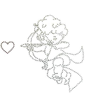Baby Italia на комод Cupido белая  — 3329р. -------------------- Аппликация на комод Cupido белая Baby Italia - инкрустирована стразами, клеится на верхний ящик комода. Размеры - 22х21 см.