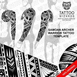 Samoan Archer Warrior Tattoo