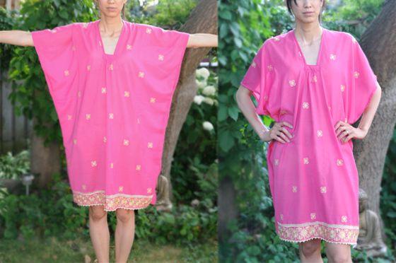Caftan from a sari