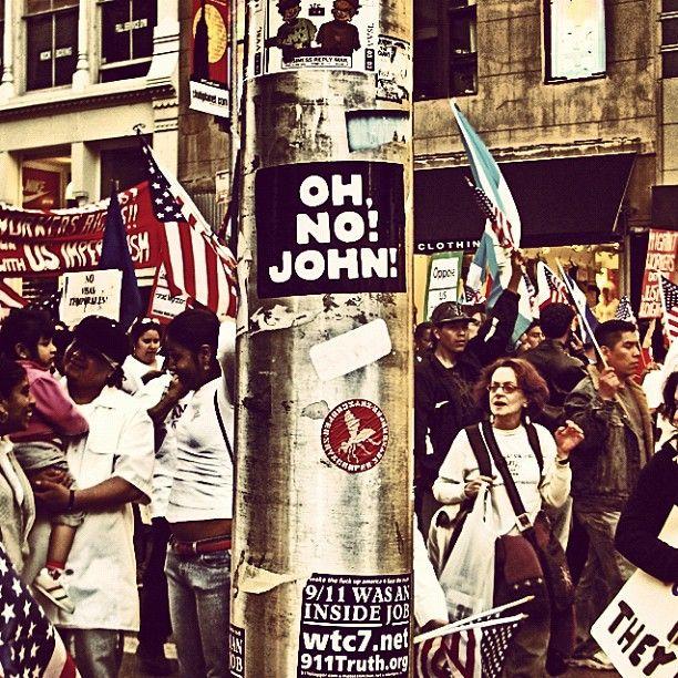 People on strike in New York!  #newyork #usa #strike #ohnojohn #ny