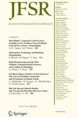 Journal of Financial Services Research #springer #insurance http://eritrea.remmont.com/journal-of-financial-services-research-springer-insurance/  # Journal of Financial Services Research ISSN: 0920-8550 (Print) 1573-0735 (Online) Description The Journal of Financial Services Research publishes high quality empirical and theoretical research on the demand, supply, regulation, and pricing of financial services. Financial services are broadly defined to include banking, risk management…