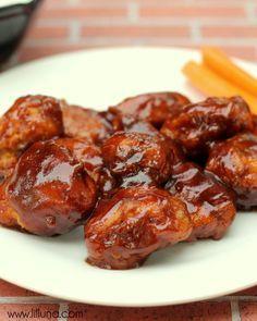 Delicious Boneless Honey BBQ Wings Recipe #wings