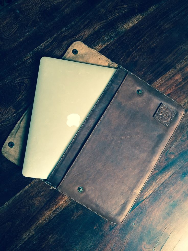 Made to order leather macbook sleeve.