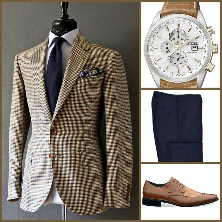 BUSINESS STYLE: Manolo Costa(Sport Coat)-Citizen(Watch)-Brunello Cucinelli(Slacks)-Stacy Adams(Shoes)
