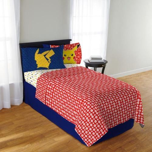 pokemon pikachu 3 piece twin bedding sheet set bed sheets - Twin Bed Sheets