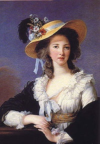 Yolande Martine Gabrielle de Polastron, Duchess of Polignac (8 September 1749 – 9 December 1793) was the favourite of Marie Antoinette, whom she first met when she was presented at the Palace of Versailles in 1775, the year after Marie Antoinette became the Queen of France. She was considered one of the great beauties of pre-Revolutionary high society, but her extravagance and exclusivity earned her many enemies.[