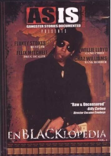 "This DVD features the stories of 4 black infamous individuals of American history. FLUKEY STOKES (Chicago) is the man who buried his son, ""Willie the Wimp,"" in a Cadillac coffin. CHAZ WILLIAMS (New York) was known for robbing 60+ banks then going on to own a record company.  WILLIE LLOYD (Chicago) is the self-proclaimed king of the Vice Lords, convicted cop killer and legendary extortionist. His story told with a surprising twist. FELIX MITCHELL (East Oakland, CA)"