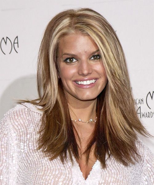Long Straight Brown Hairstyles | Jessica Simpson Hairstyle - Casual Long Straight - 3010 ...