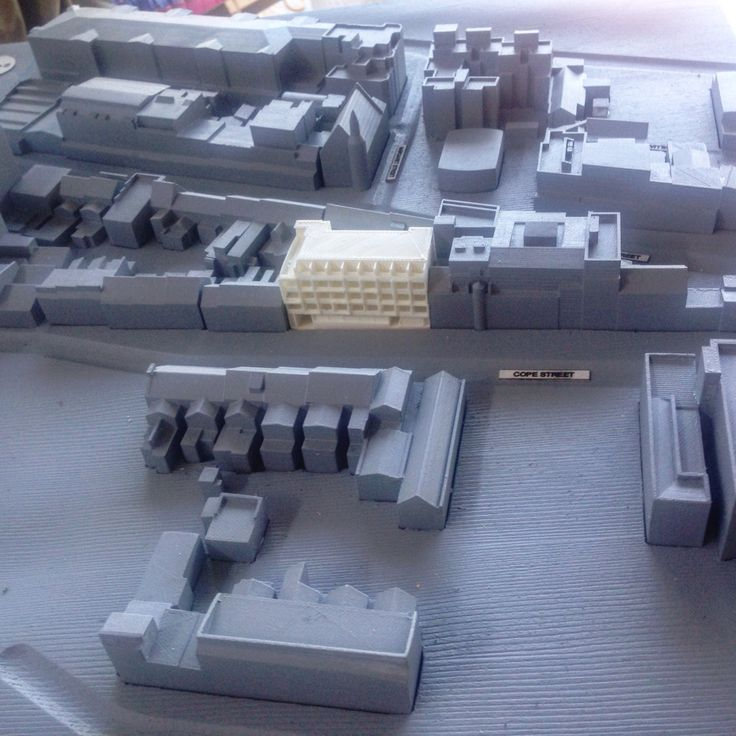 1:500 scale DA Model for the City of Sydney. CNC milled terrain and 3d printer buildings