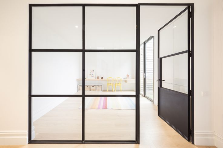 Private residence, steel doors and windows, Albert Park.  Photography by Ari Hatzis.