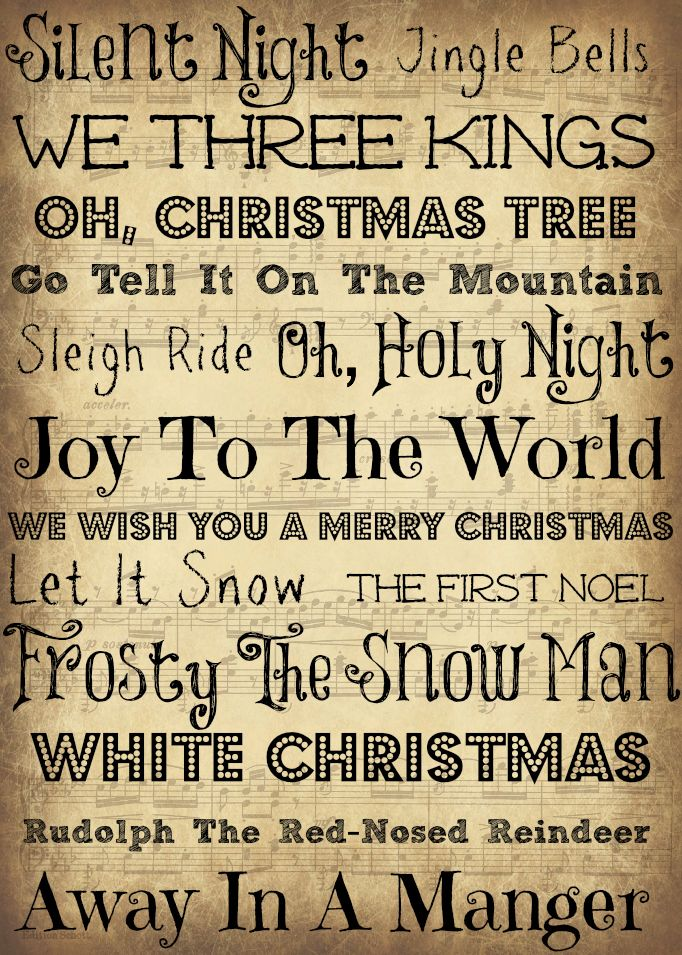 5x7 Christmas Printable Christmas Music Subway Art