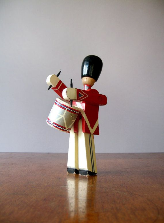Kay Bojesen Danish Modern Wooden Toy Drummer on Etsy, $98.00