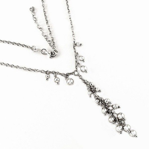 Elegantní stříbrný náhrdelník Silvego s kuličkami r-ypL-bs