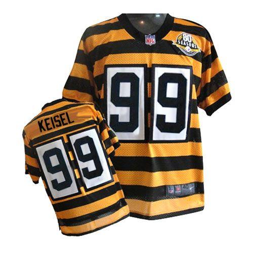 Nike Pittsburgh Steelers #99 Keisel black 80th Throwback jersey