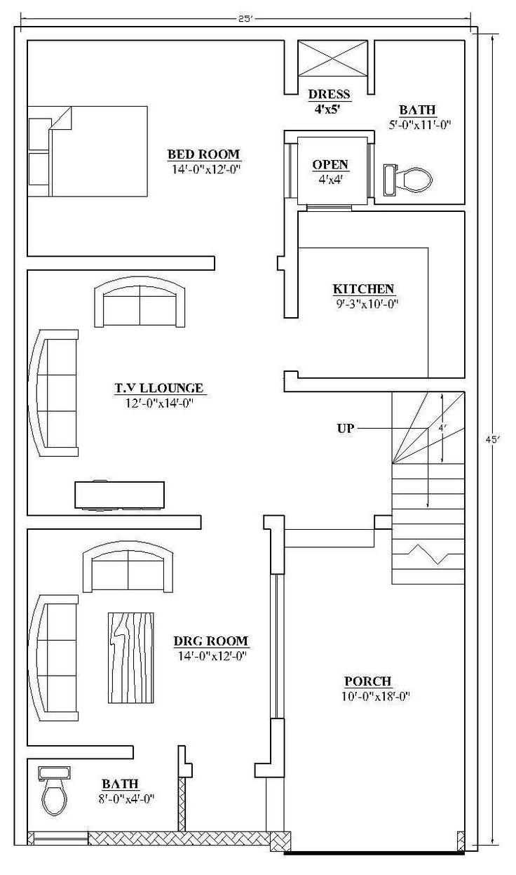 Autocad 3d House Design Software: 17 Best 25x45 House Plan Elevation Drawings Map Naksha
