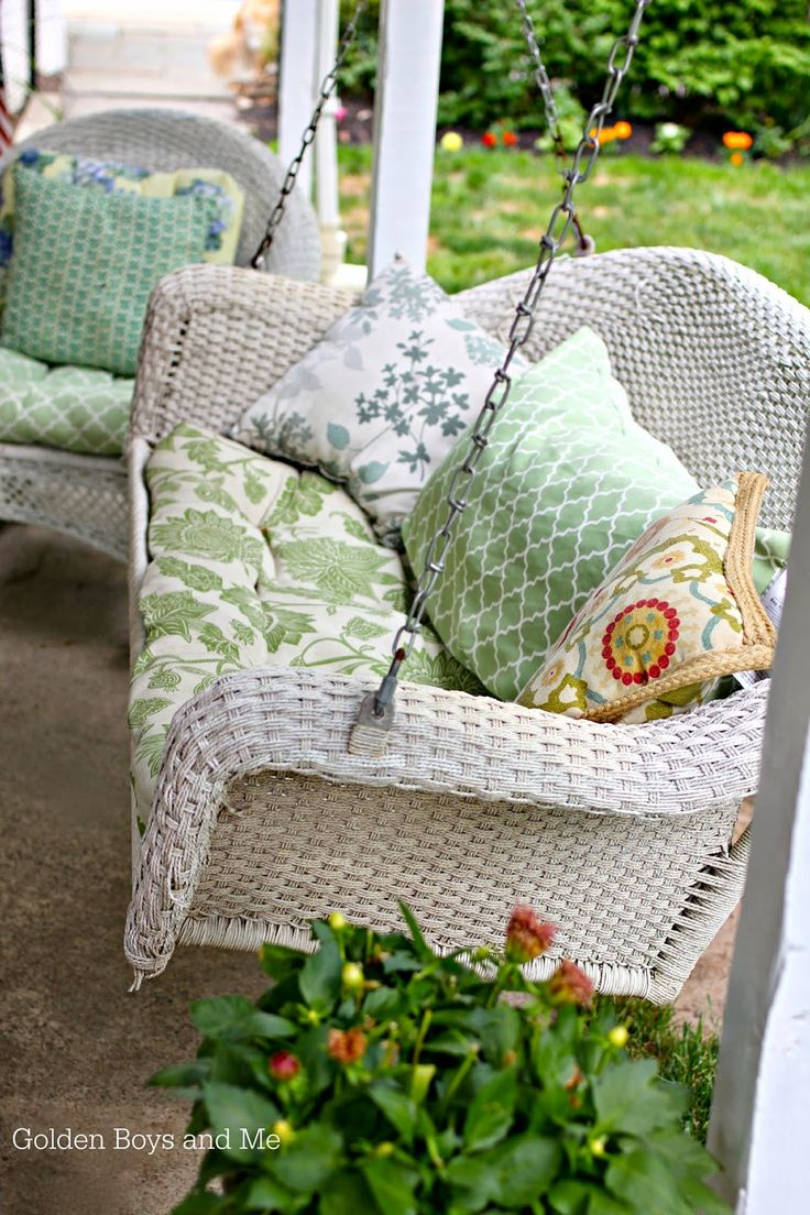 wicker porch swing can repurpose a