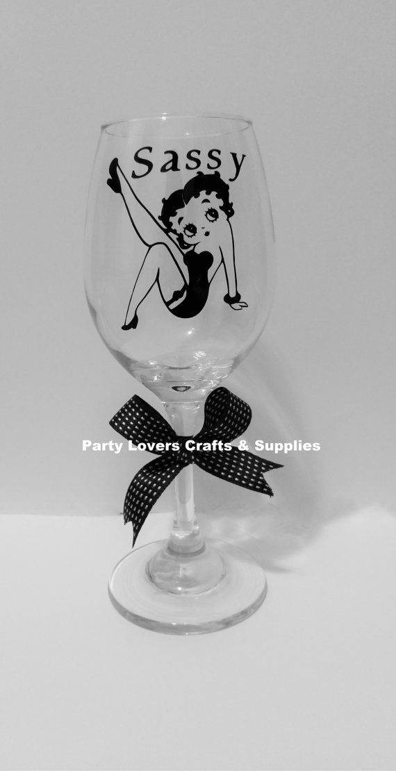 Personalized WINE GLASSES  Betty Boop Wine by PartyLoversCrafts