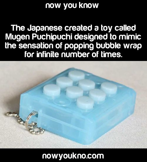 excusemyhubris:  she-minions:sheridan-holmes:wolfnanaki:nowyoukno:Source for more facts follow NowYouKno I've seen these before! They're produced by Bandai (the same company responsible for Tamagotchi and Digimon), and after every 100 pops, a random sound effect will play (like a dog barking or something).They followed this with Mugen Edamame, which emulates squeezing edamame:Then they did the Mugen Peri Peri, which simulates the action of opening boxes with tear tabs (like FedEx packages…