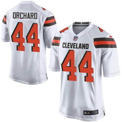 $24.99 Men's Nike Cleveland Browns #44 Nate Orchard Limited White NFL Jersey