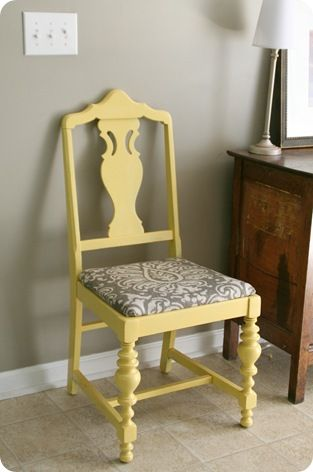 Paint some chairs this color for the front porch. Valspars warm yellow. Should look terrific with a nice dark grey base and the white railings........D.