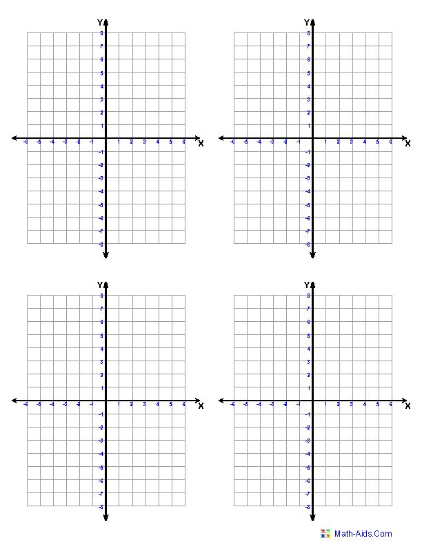 Graph Paper | Printable Math Graph Paper (free printable coordinate planes... adjust to your needs)