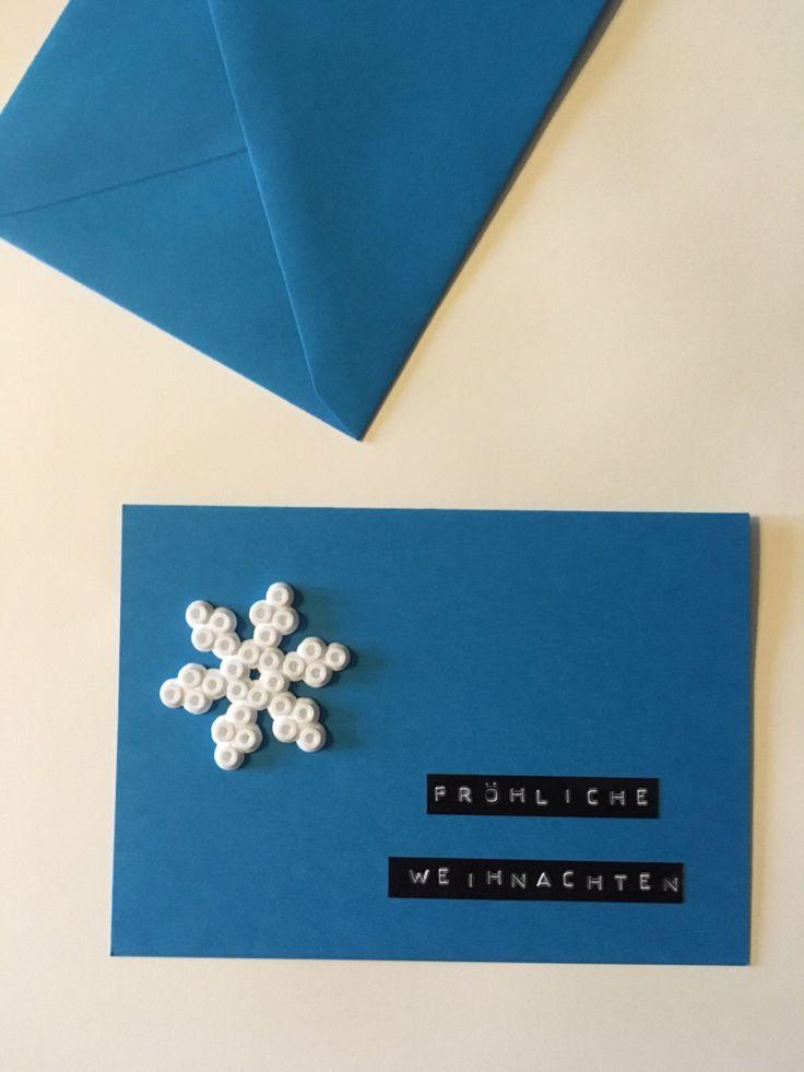 Ein persönlicher Favorit aus meinem Etsy-Shop https://www.etsy.com/de/listing/486292377/weihnachtskarte-mit-schneeflocke-aus