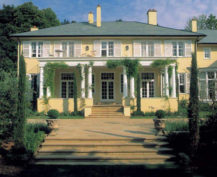 Yellow Edwardian House -- Country Garden -- Landscape Architecture & Design