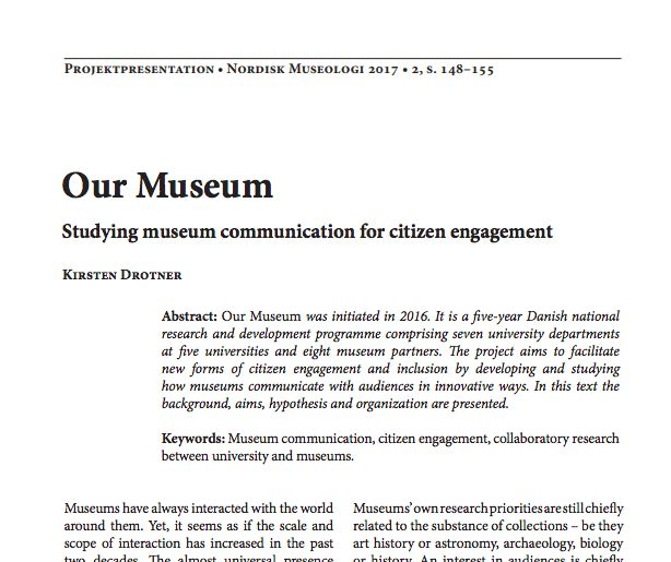 Studying museum communication for citizen engagement O