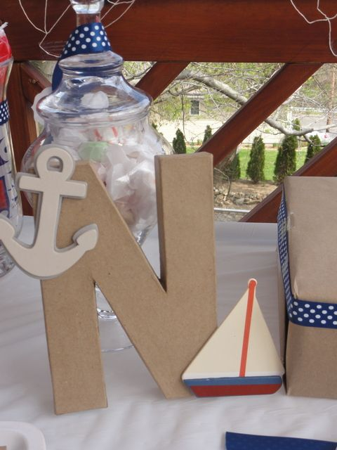 I love these cardboard letters