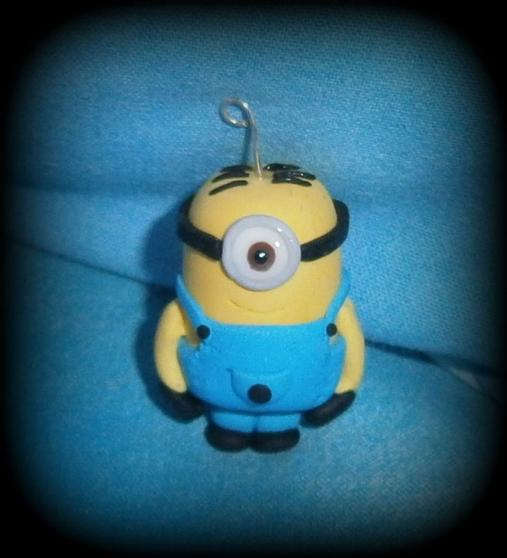 Fimo, Minion, disponibile come collana, portachiavi